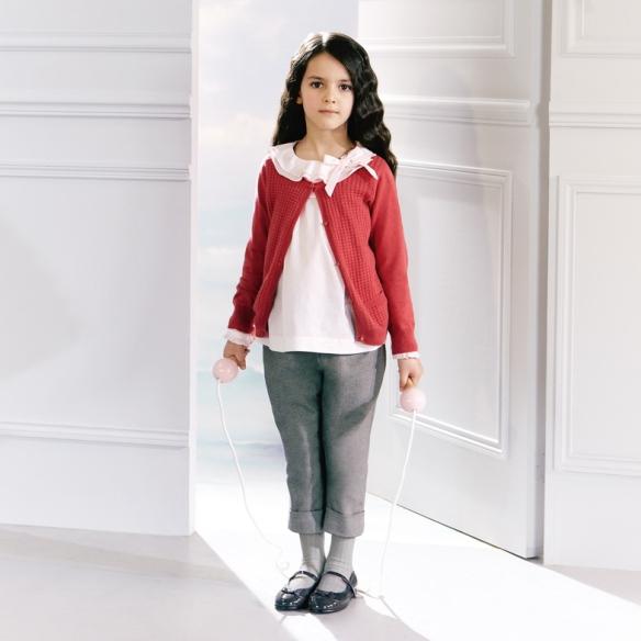 Conjunto jersey, blusa y pantalón niña Jacadi