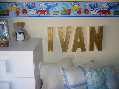 Letras decorativas infantiles grandes para la pared del cuarto de los niños
