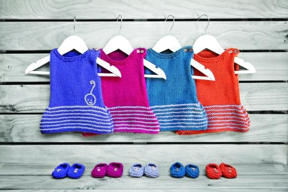 Vestido de punto para niñas de Knitnik