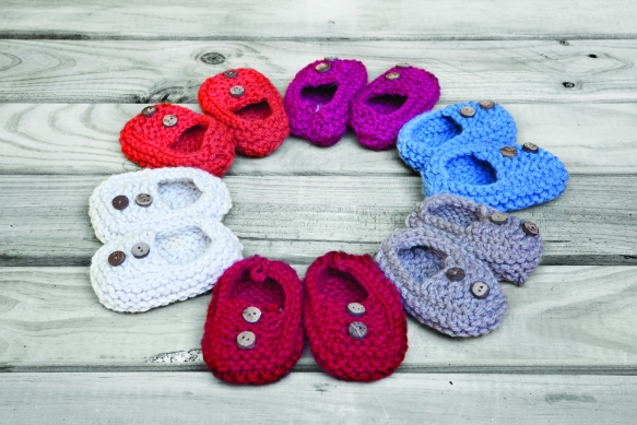 Zapatitos de punto para bebes de Knitnik