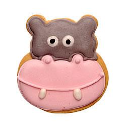Carlota´s galleta para niños con dibujo de un hipopótamo del pack animales