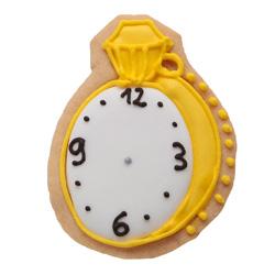 Carlota´s galleta para niños con dibujo de reloj del pack Alicia en el país de las maravillas