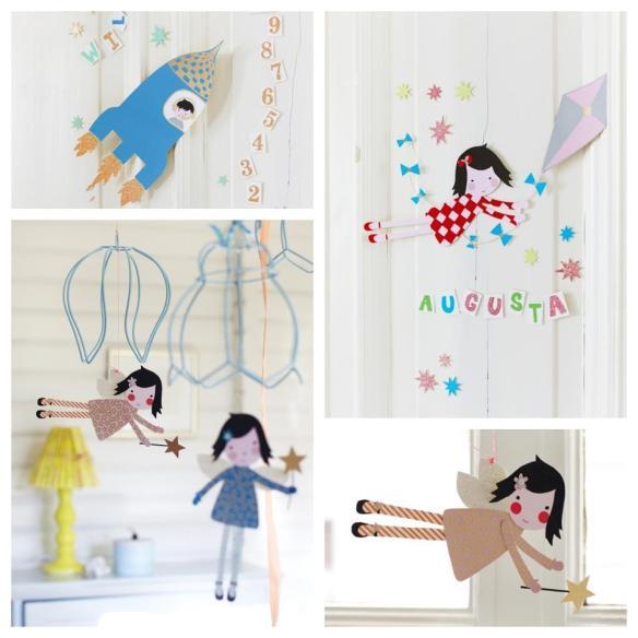 Crafts para niños de muñecas, cohetes, para decorar, en Maison artist