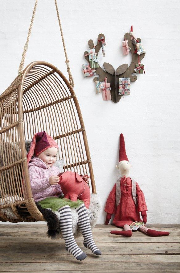 Detalles y adornos de Navidad Blaubloom, inspiración nórdica