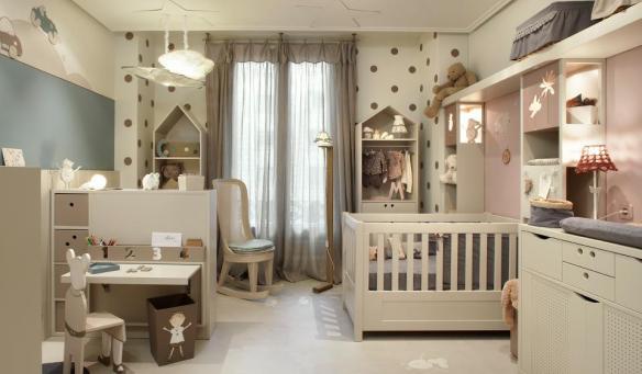 Habitación infantil, cuna, escritorio, cambiador de Dijous