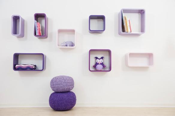 Estanterías Hopper de colores para habitaciones infantiles en Maison Artist
