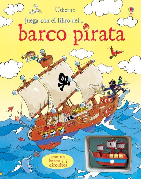 Libro con vehículo para jugar. Juega con el libro del barco pirata de Usborne