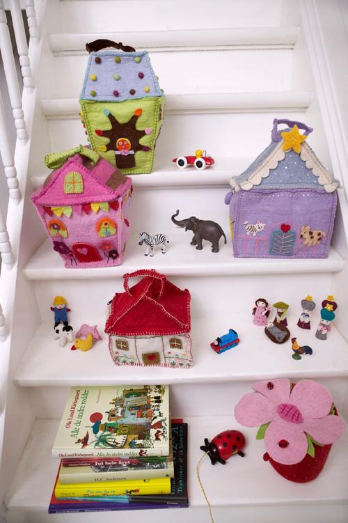 Juguetes de tela: casitas, cestas, de Én Gry & Sif en Blaubloom