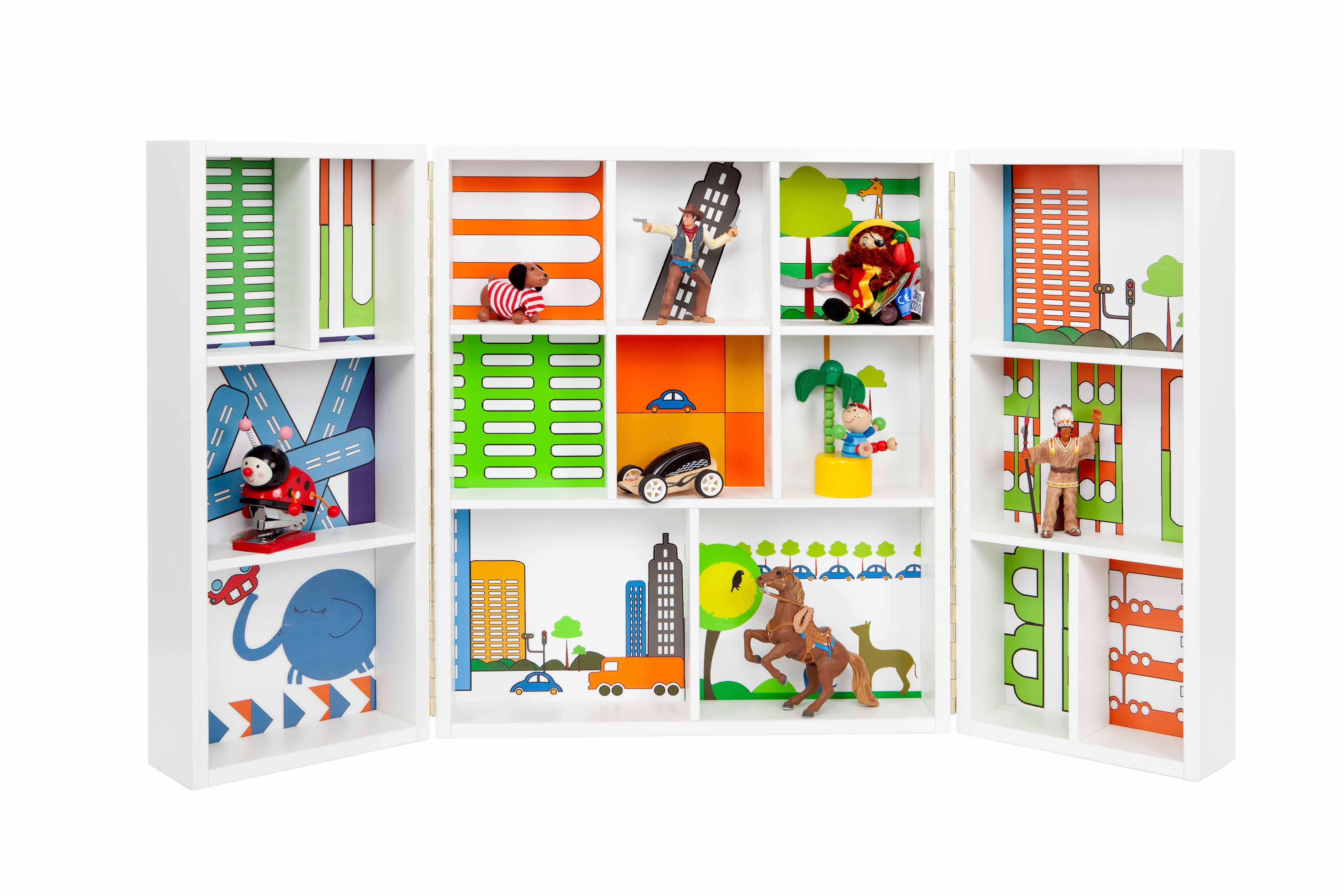 armario pequeo para guardar juguetes y miniaturas para nias y nios de barruguet