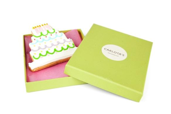 Tarjeta cumpleaños de galleta para niños de Carlota´s