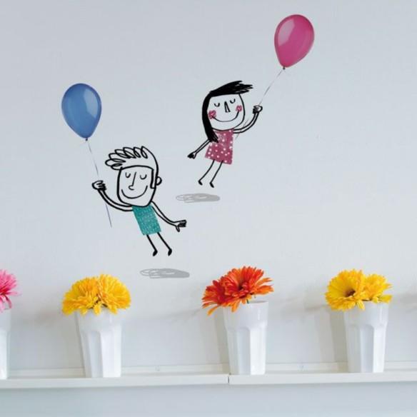 Vinilo para habitaciones infantiles niños con globos de Maison Artist