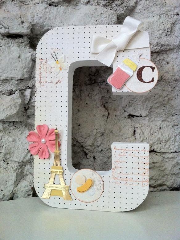 Letra C Emedemauro, letras de scrapbooking para decorar cuartos infantiles