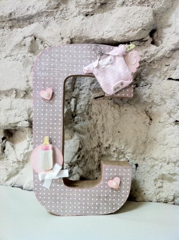 Letra C Emedemauro, letras para decorar cuarto infantiles hechas a mano