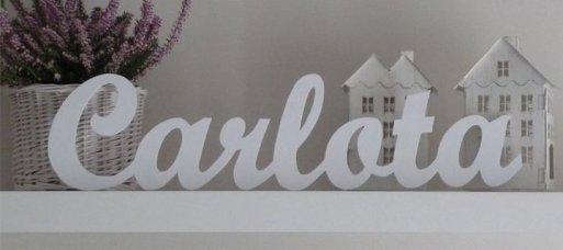 Letras decorativas para el baño infantil en Bagno di casa