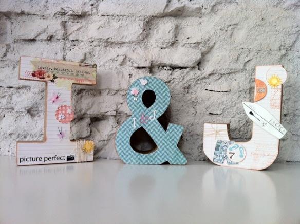 Letras surferas de Emedemauro, letras personalizadas hechas a mano