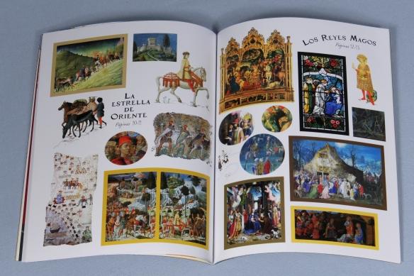 Pegatinas del libro El Museo en pegatinas, la Natividad. Usborne