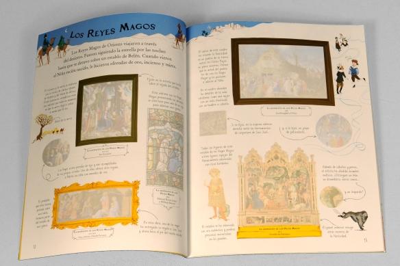 El Museo en pegatinas, La Natividad. Usborne. Libro de pegatinas de Navidad de cuadros famosos para niños