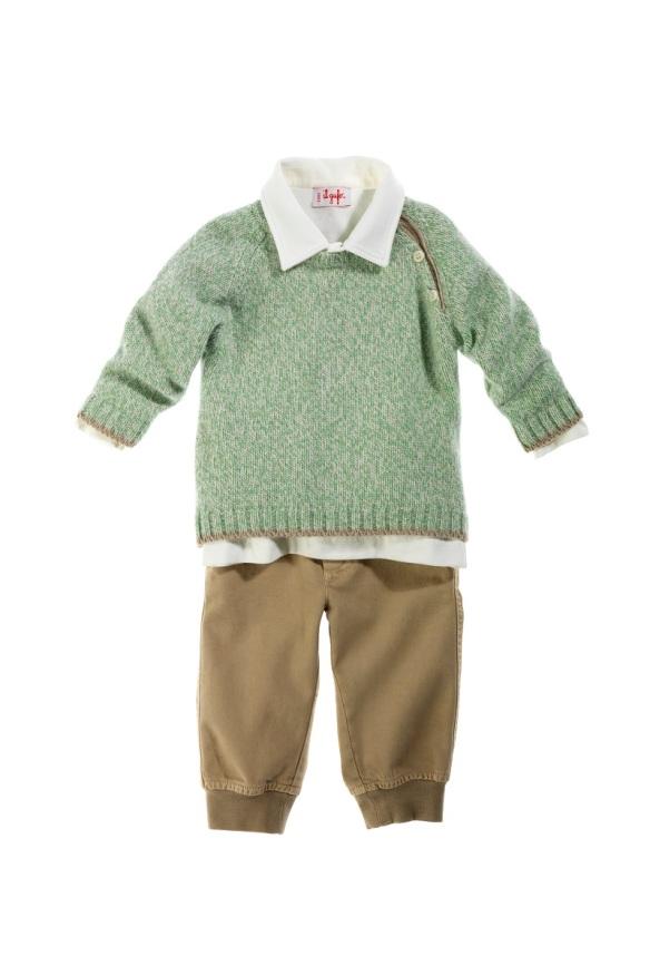 Conjunto jersey, camisa y pantalón niño Il Gufo