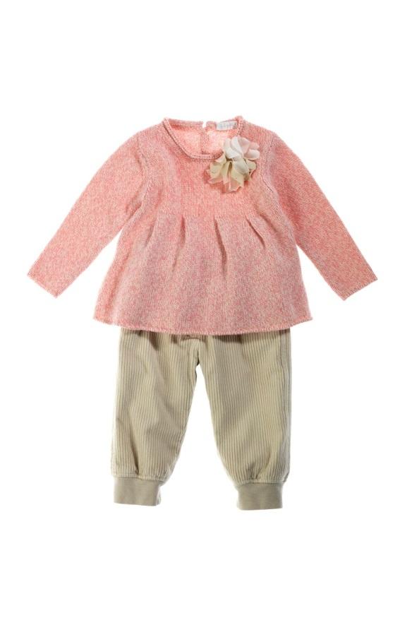 Jersey y pantalón niña Il Gufo