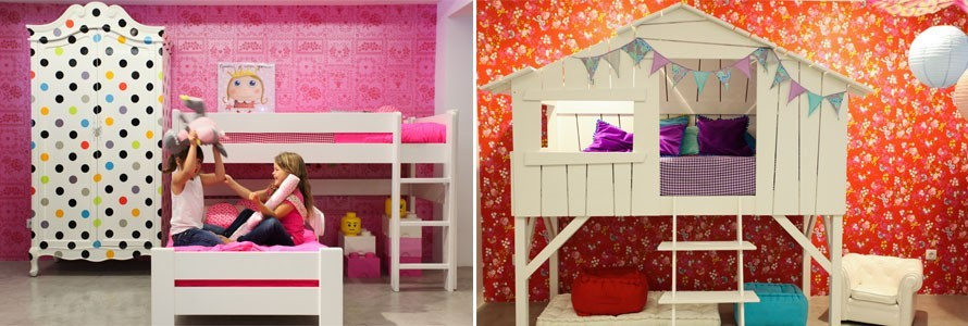 Camas ideas y moda para ni os chic - Habitaciones infantiles dobles ...