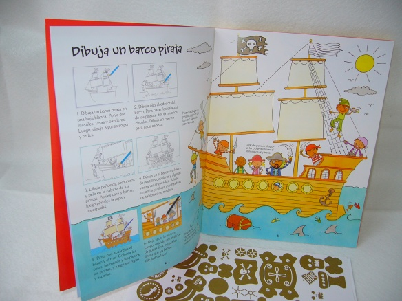 Cosas de piratas, libro de actividades para niños de Usborne
