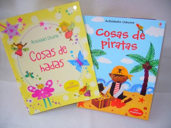 Cosas de piratas y Cosas de hadas, libros de actividades de Usborne