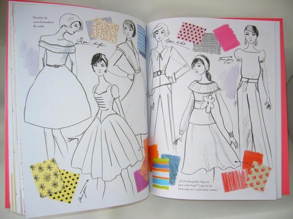 Diseño de estampados en El gran álbum de la moda, de Usborne