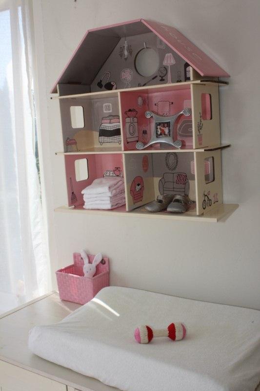 Casita de muñecas de cartón ecológico, Maison Artist
