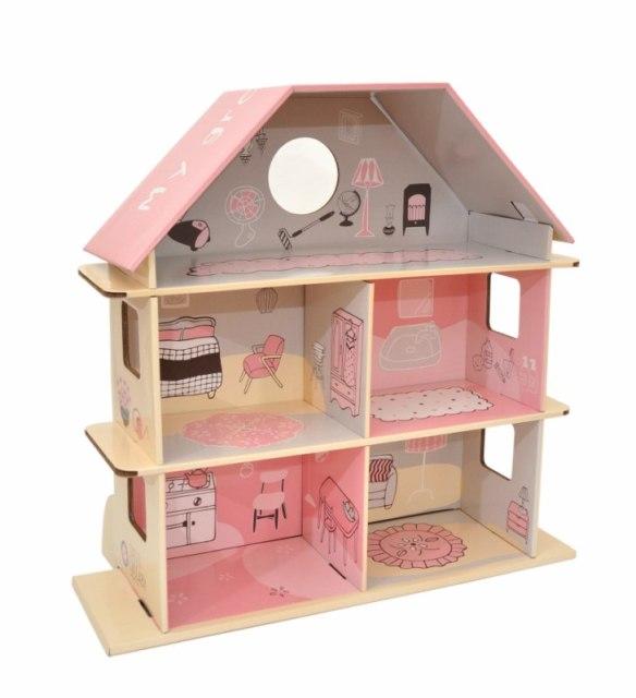Casita de muñecas de cartón Maison Artist