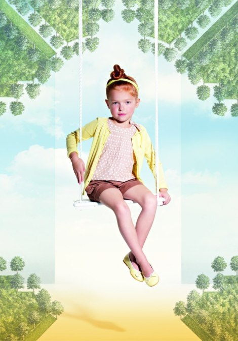 Look niña Fleurs et miel primavera-verano 2013 Jacadi