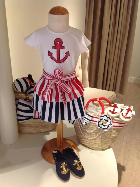 Conjunto marinero niña, en Ascott