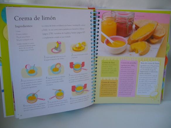 Receta de crema de limón, de Aprende a cocinar. Usborne
