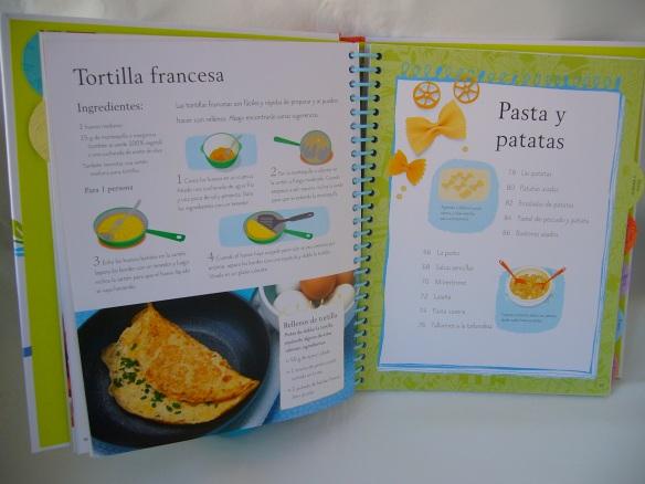 Receta de tortilla francesa, de Aprende a cocinar. Usborne