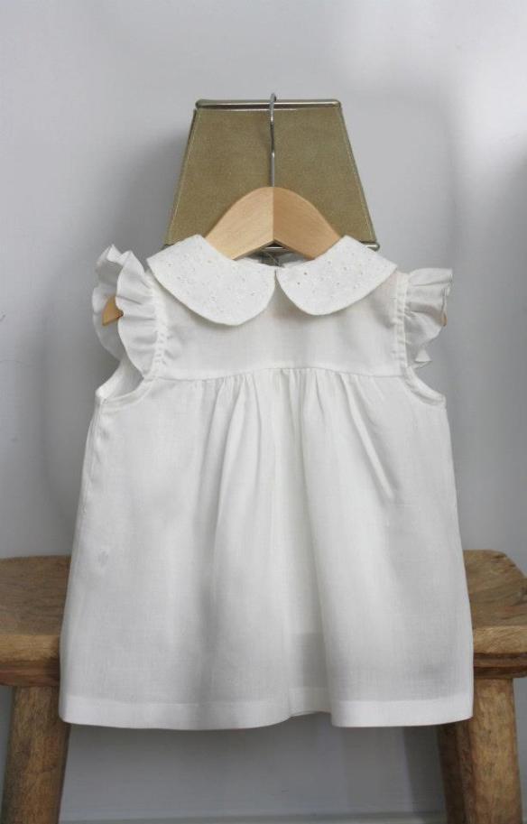 Vestido cuello bordado blanco primavera-verano 2013 La Habitación de Nachete