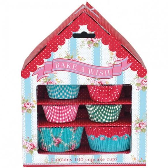 Cápsulas para cupcakes house Amy, de Greengate, en María Lunarillos