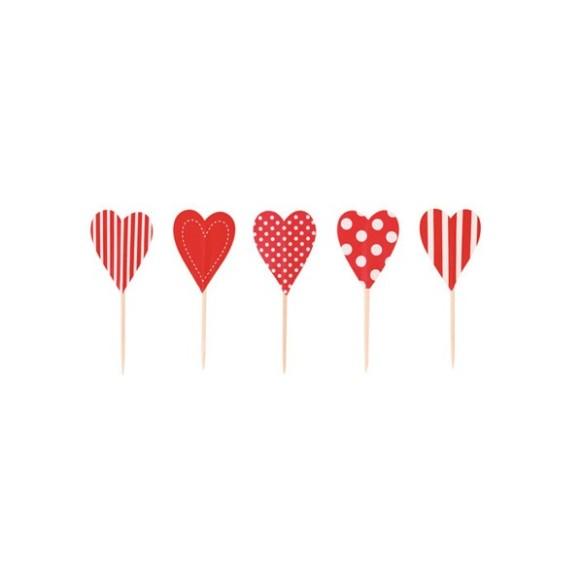 Toppers corazones en María Lunarillos