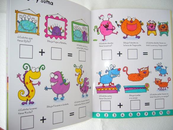 Libro para aprender a sumar y restar, de Usborne