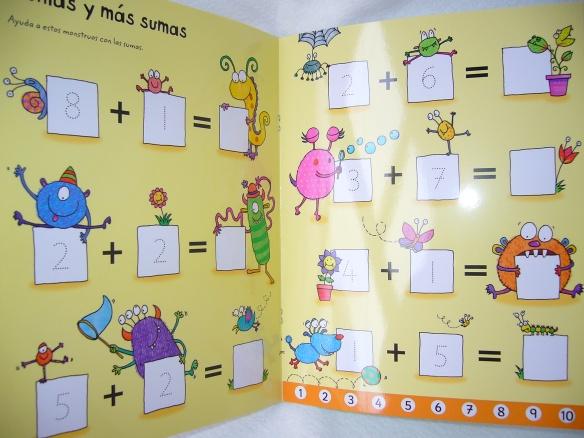 Libro pizarra para aprender a sumar y restar, de Usborne