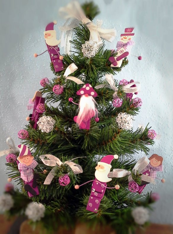 Arbolito de Navidad Fucsia Navi de Chez Bea