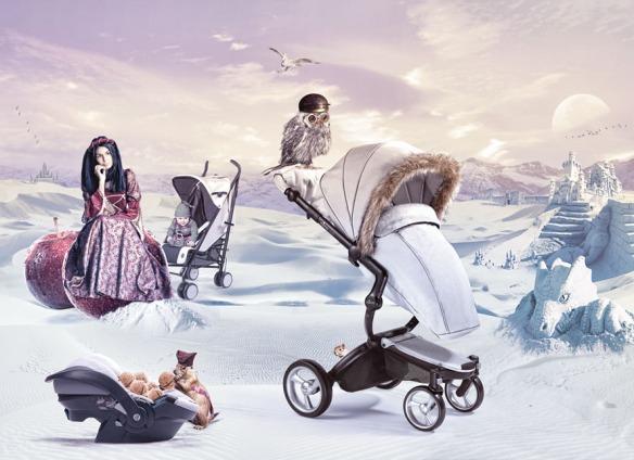 mima snow white winter, silla y cochecito para bebés