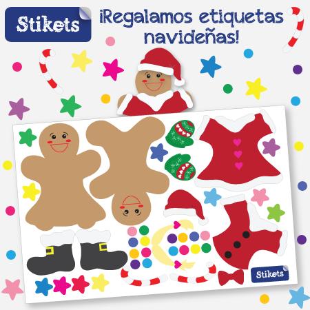 Etiquetas navideñas de regalo en Stikets