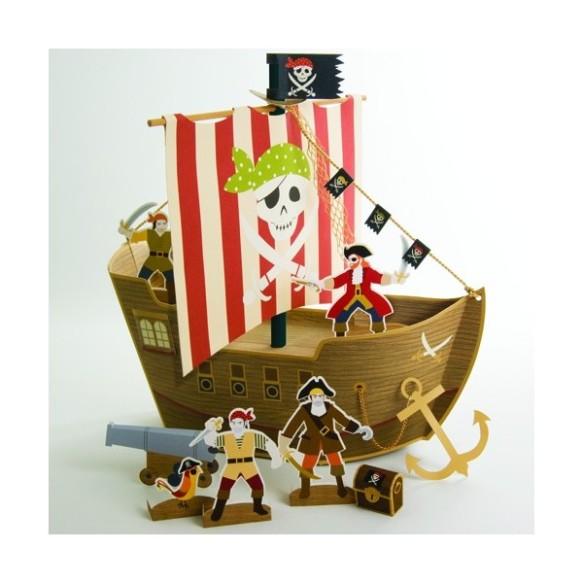 Barco centro de mesa pirata en Hascot Kids