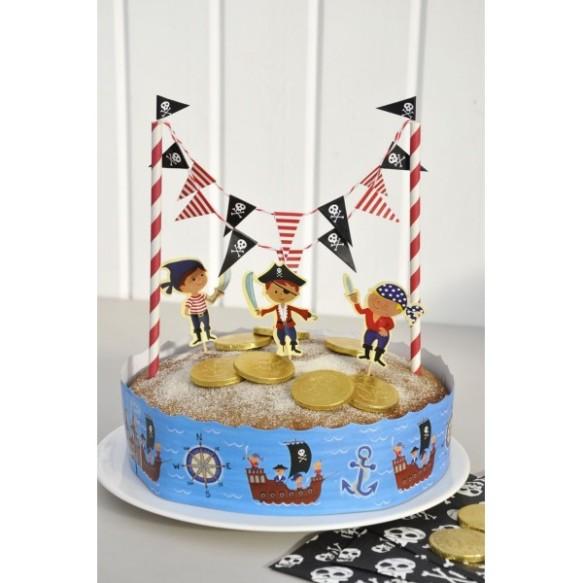 Guirnalda pirata para tarta, en Hascot Kids