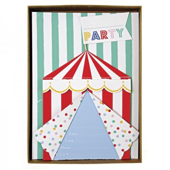 Invitaciones para fiesta circo, en Hascot Kids