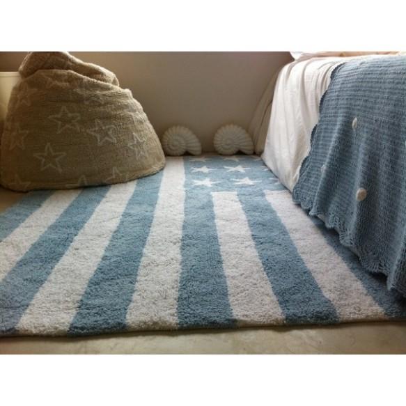 Alfombra lavable flag-american baby azul de Lorena Canals