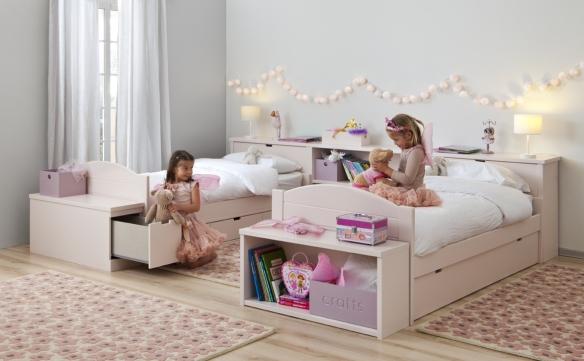 Lorena Canals, alfombra de lana Wool florecitas pink
