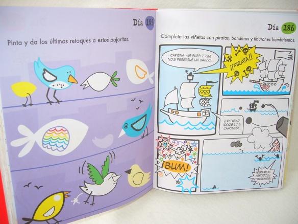 Un día, un dibujo de la editorial Usborne, libro  infantil para dibujar y pintar