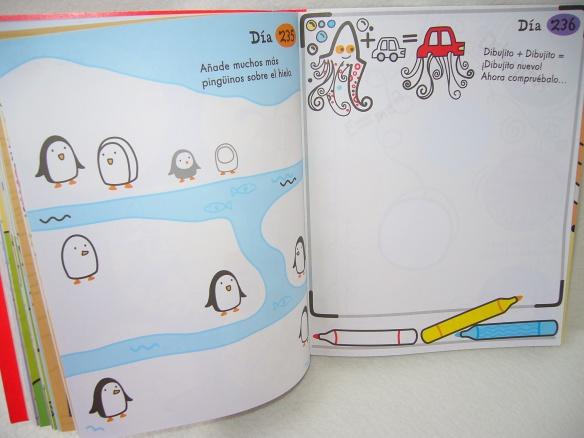 Un día, un dibujo de la editorial Usborne, libro para dibujar para niños