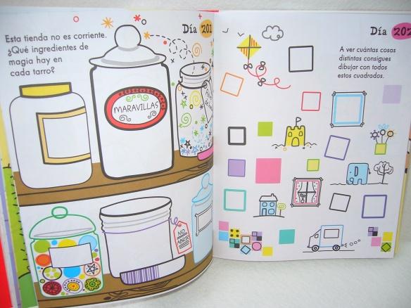 Un día, un dibujo de la editorial Usborne, libro para que los niños dibujen y pinten