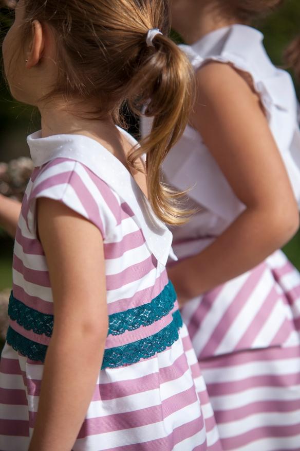 Vestido de rayas  niñas primavera-verano 2014, de Felicia Much
